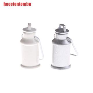 [haostontombn]1:12 Dollhouse Miniature Milk Jars Barrel With Lids Kitchen Milk Can