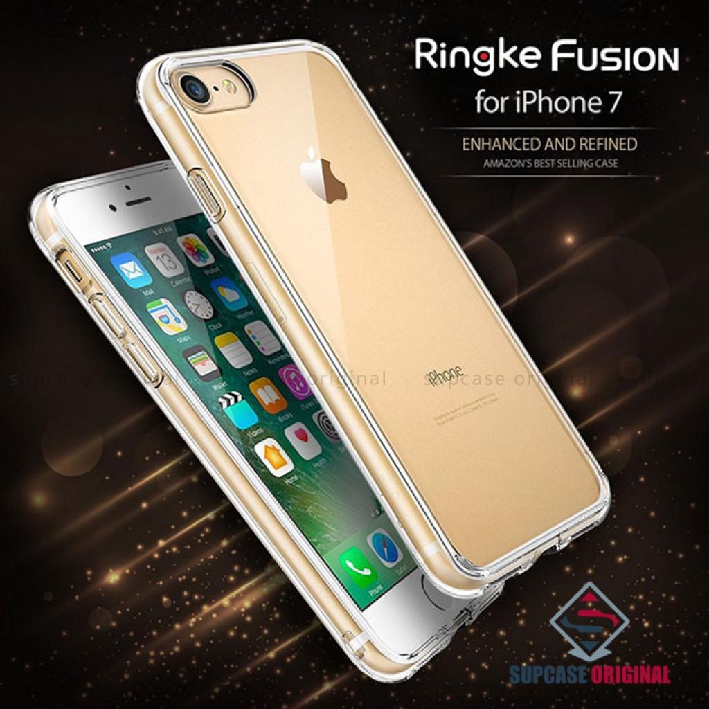 เคสนุ่ม REARTH Ringke Fusion ของแท้ เคสกันกระแทกระดับ Military Grade สำหรับ iPhone 7 สีดำ (Ink Black)คสนุ่ม REARTH Ringk