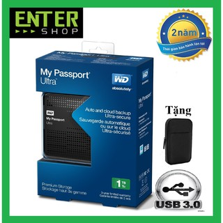 [Mã ELMS5 giảm 7% đơn 300K] Ổ cứng di động WD My Passport Ultra 1Tb Usb 3.0 Tặng túi chống sốc