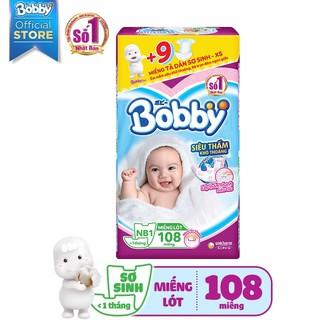 Hình ảnh [Mã FMCGHOT giảm 10% đơn từ 400K] Miếng lót sơ sinh Bobby Newborn 1-108 miếng-1
