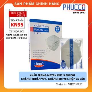 [Thiết Yếu] + [HCM - Nowship 2H] Khẩu trang N95 MAYAN, lọc bụi mịn PM2.5, lọc 99% vi khuẩn, virut, chống kích ứ thumbnail