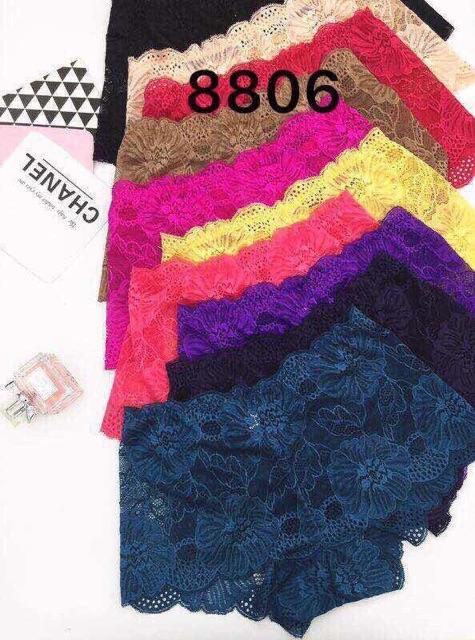 Quần lót ren đùi mã 8806 lố 10 quần trộn màu