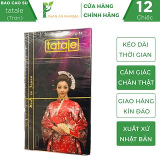 Bao cao su Nhật TATALE ( cô gái Nhật) siêu mỏng, hộp 12 bao - Phan An CN353 thumbnail