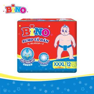 Tã dán Bino Sumo XXXL12 (Cho bé trên 18kg và người gầy) lõi siêu thấm hút