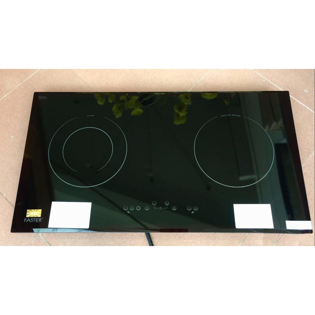 Bếp điện từ Faster FS 2SIR nhập khẩu Tây Ban Nha, bếp điện từ đôi, bếp từ hồng ngoại, bếp hỗn hợp điện từ