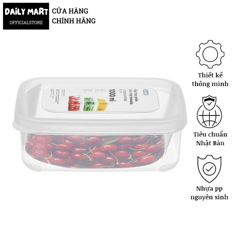 [6 Size] Hộp Đựng Thức Ăn, Hộp Đựng Bảo Quản Thực Phẩm Tủ Lạnh, Lò Vi Sóng HOKKAIDO Inochi (Dạng Chữ Nhật)