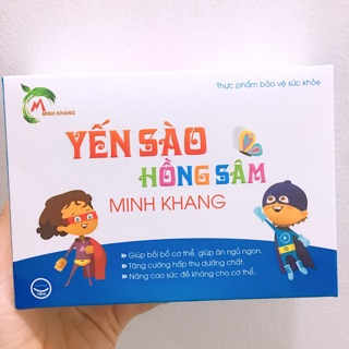 Yến Sào Hồng Sâm_Vitamin tăng đề kháng_trị táo bón_bảo vệ đường tiêu hoá_kích thích ngon miệng