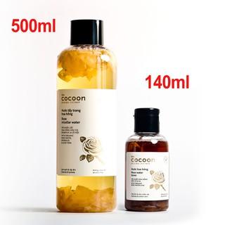 Combo Nước hoa hồng cocoon 140ml VÀ Nước tẩy trang hoa hồng cocoon 500ml thumbnail