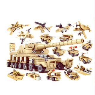 Bộ lego 16 in 1 – Mô hình xe tăng