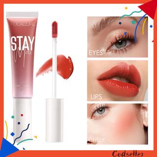 CODseller Women Natural Waterproof Long Lasting Face Cheek Liquid Blush Lipstick Cosmetic