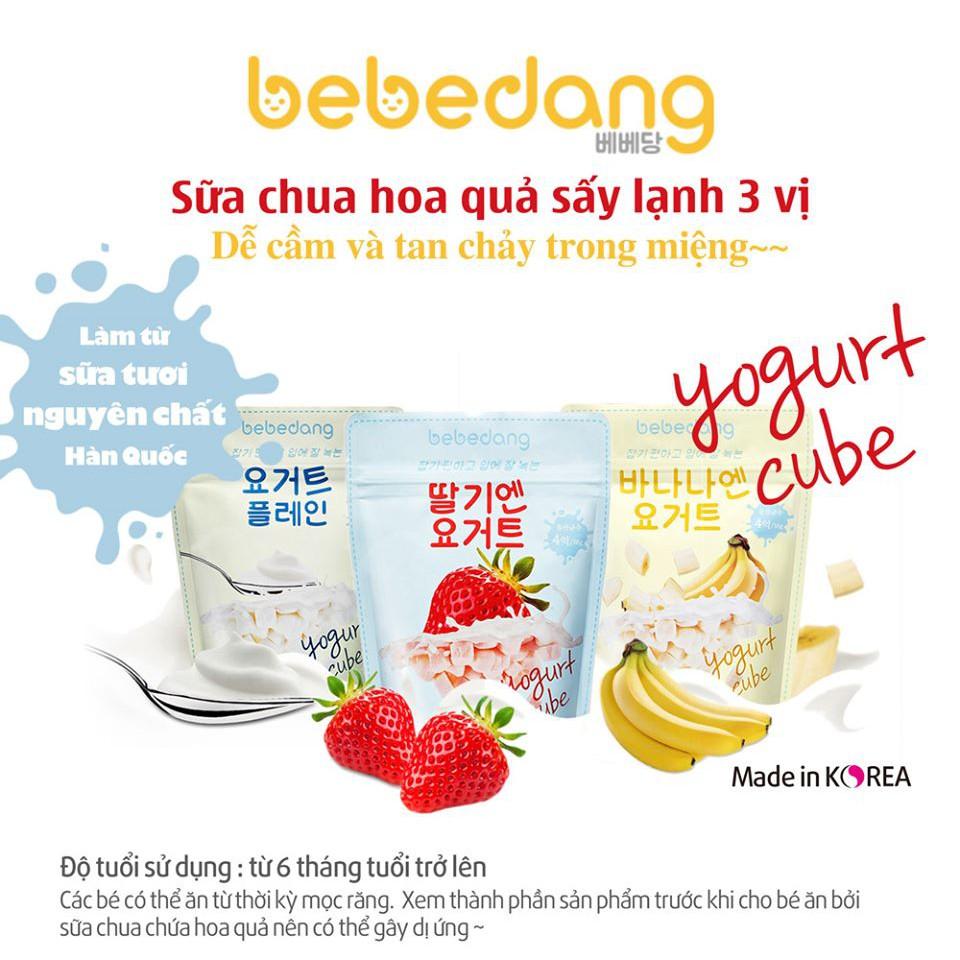 Sữa chua khô hoa quả sấy lạnh Bebedang Hàn Quốc cho bé 10m+