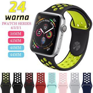 Dây đeo silicon phong cách thể thao cho iWatch với 24 màu tuỳ chọn cho Apple Watch 4/3/2/1 / 42mm / 38mm