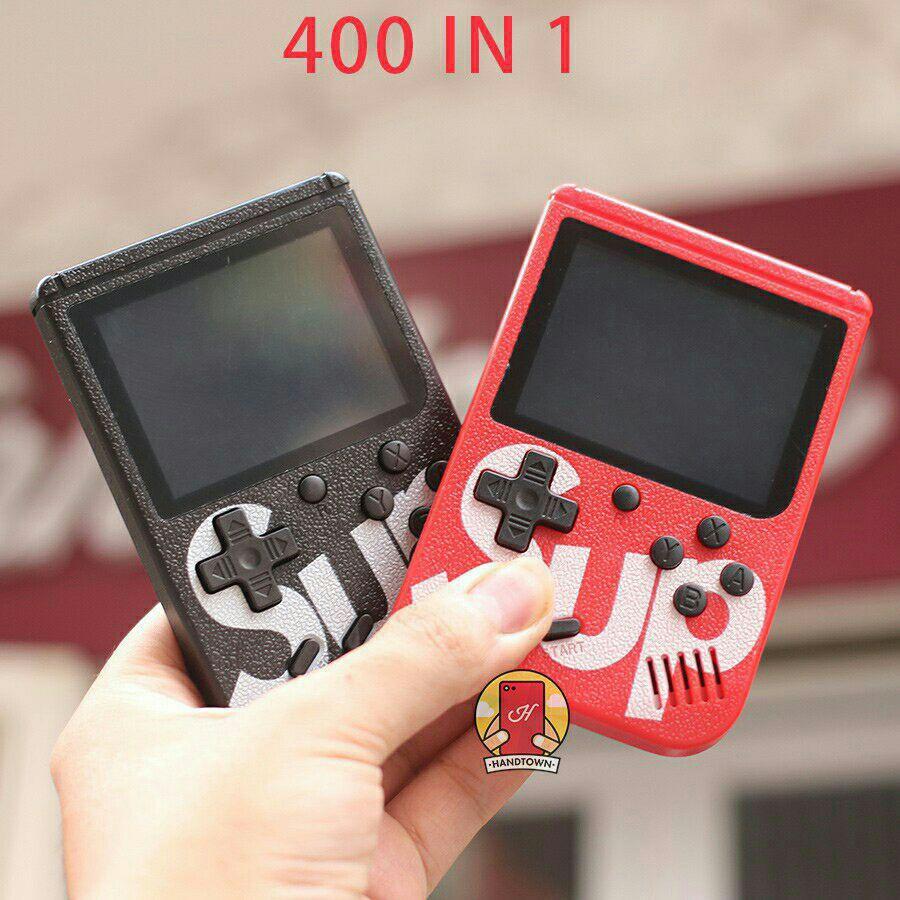 MÁY CHƠI GAME 4 NÚT CẦM TAY SUP GAME BOX 400 IN 1