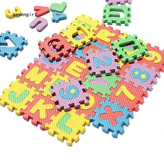 〖MO〗36 Pcs/Set Child Kids Novelty Alphabet Number EVA Puzzle Foam Teaching Mats Toy