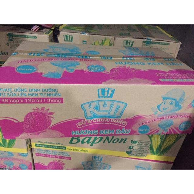 Sữa nước Kun cho bé đủ vị-thùng 48h 180ml