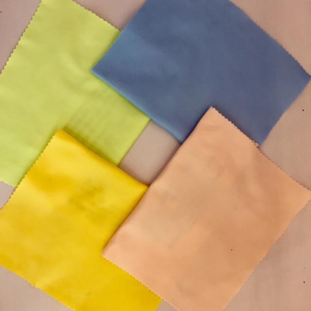 Khăn lau kính nhiều màu, khăn lau đa năng loại dày (kích thước 14*16)