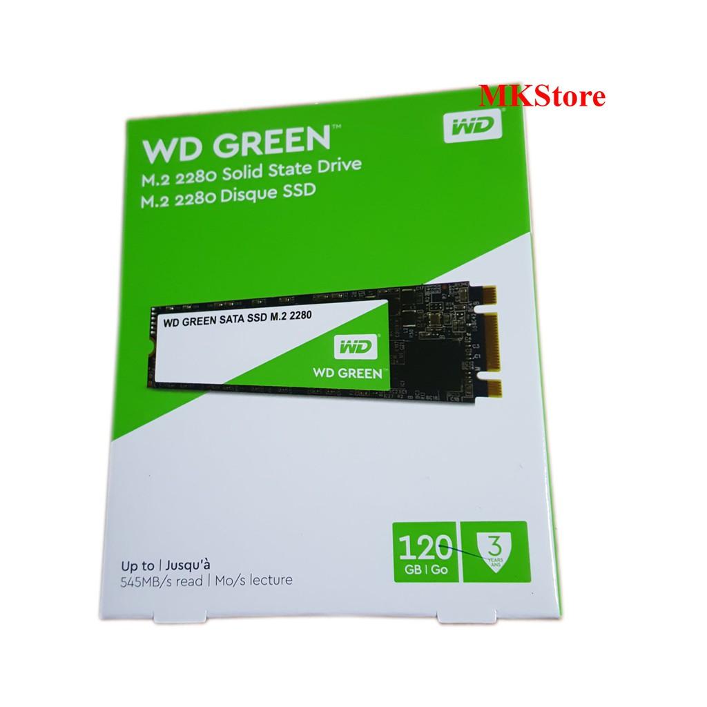 Ổ cứng M.2 2280 SSD Western Digital Green 120G - WDS120G2G0B