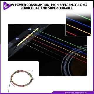 Colorful 1-6 E B G D A E Rainbow Colorful Strings Set for Acoustic Guitar