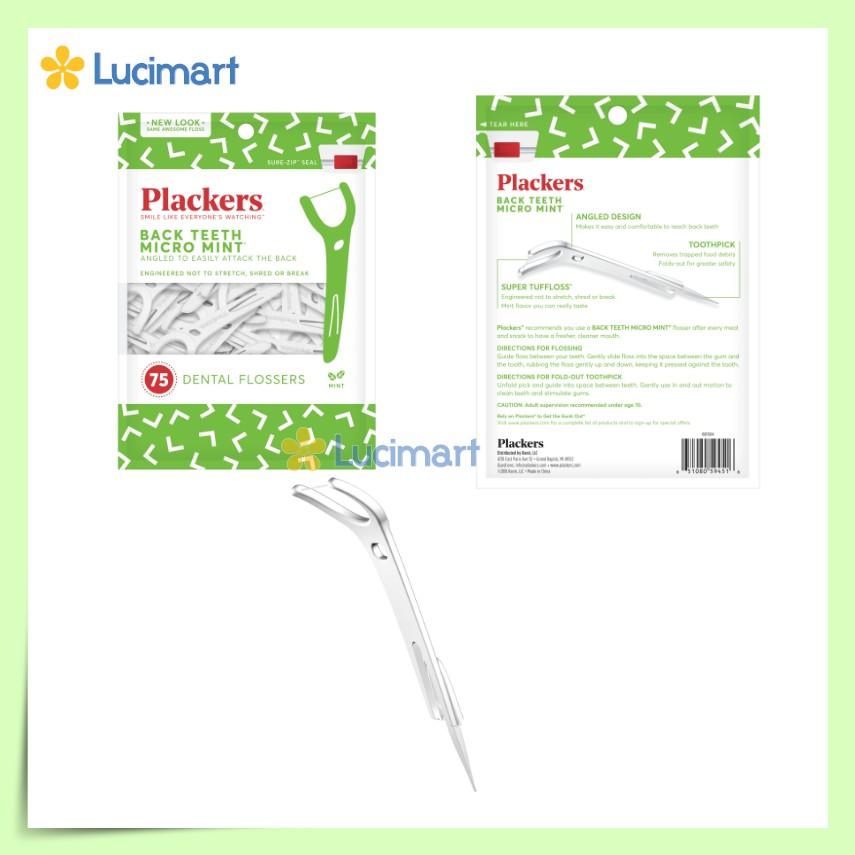 Tăm Chỉ Nha Khoa Plackers Flossers Picks từ USA [Hàng Mỹ]