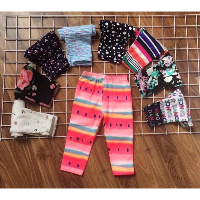 Sét 10 quần legging bé gái