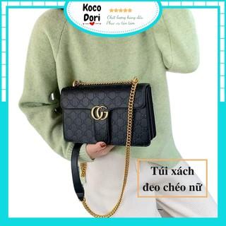 Túi xách nữ đẹp, (TẶNG ÁO 0đ) túi xách đeo chéo nữ vân chữ dập nổi SPC103 Koco Dori