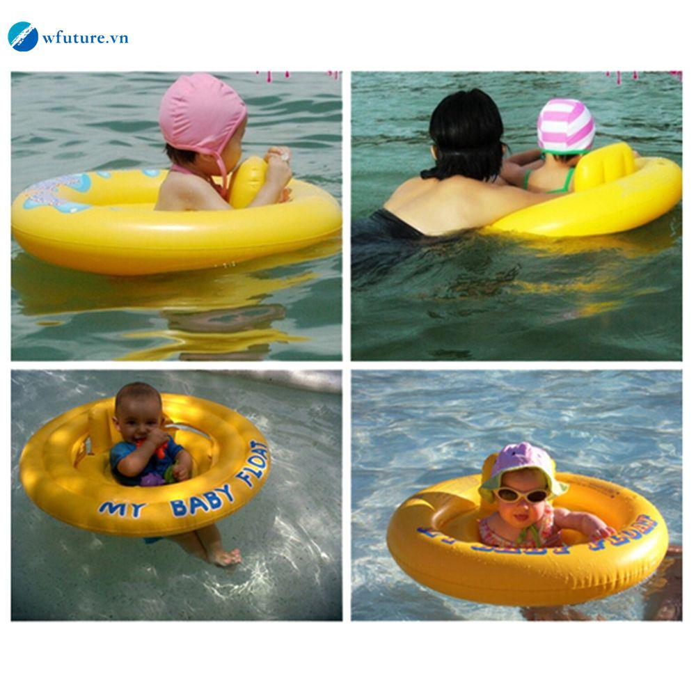 Double Air Bags Baby Inflatable Pool Water Swimming Ring Safety Toddler Aid