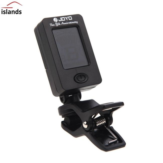 JOYO JT-01 360 Degree Rotatable Sensitive Mini Digital LCD Clip-on Tuner for Guitar Bass Violin Ukulele Part Accessories