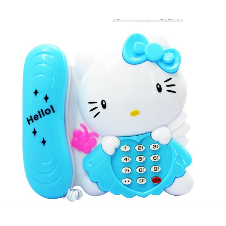 Đồ chơi điện thoại bàn mèo Kitty