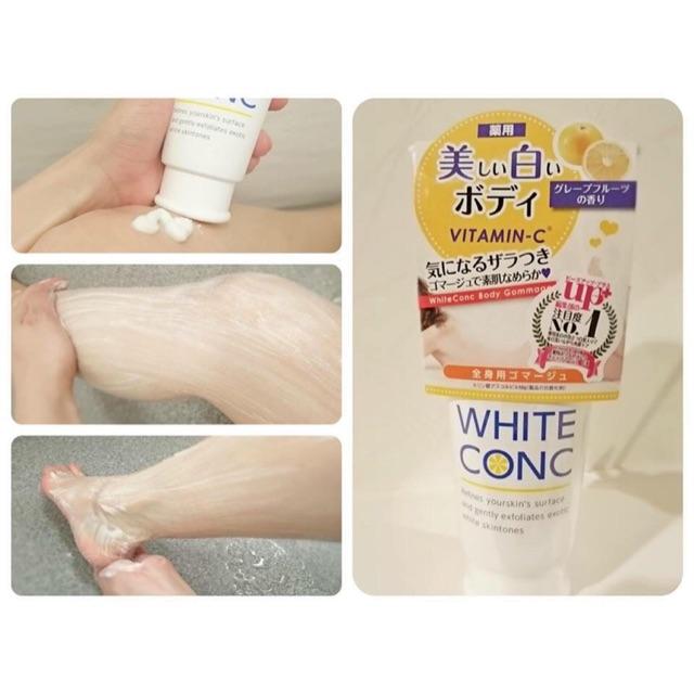 Tẩy tế bào chết dưỡng trắng White Conc Vitamin C