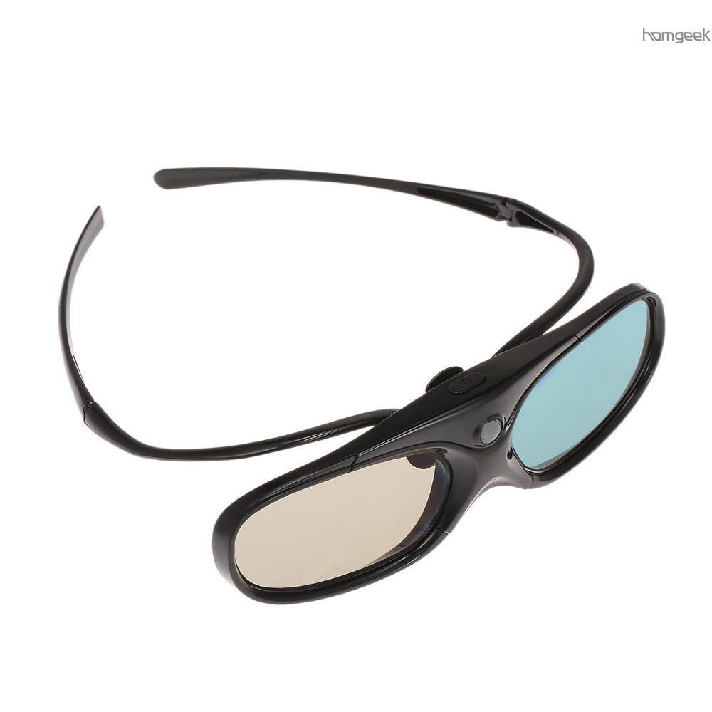 H&G G300 Active Shutter 3D Glasses Clip-on Type Compatible with DLP-Link Projector with Detachable Temple Projector with 3D Function Rechargeable...