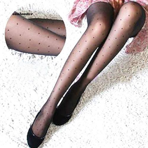 SNLD_Women's Fashion 😍 Sheer Small Dot Pattern Stretchy Pantyhose Tights Gift
