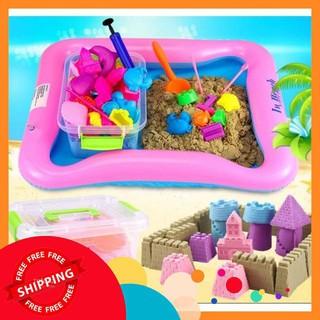[SHIP TỨC THÌ] Bộ đồ chơi tạo hình cát động lực cho bé