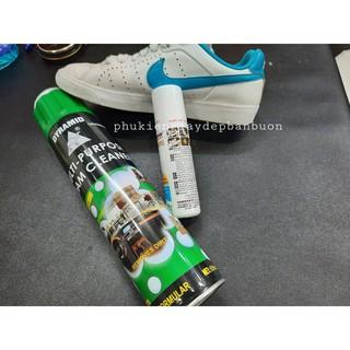 Bộ chai xịt bọt và xi trắng cho giày thể thao trắng, sneaker trắng, làm sạch giày trắng