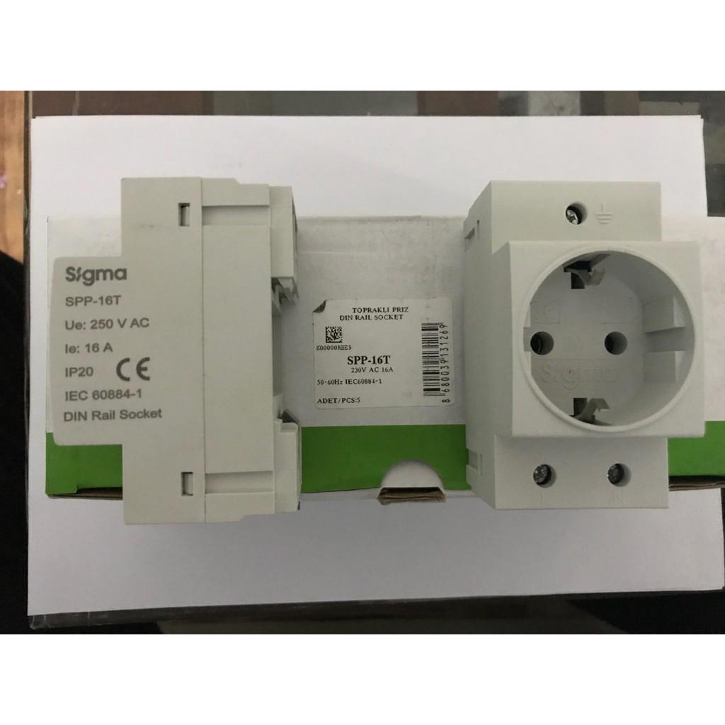 ổ cắm gắn trên thanh ray, chuyên dụng cho tủ bảng điện