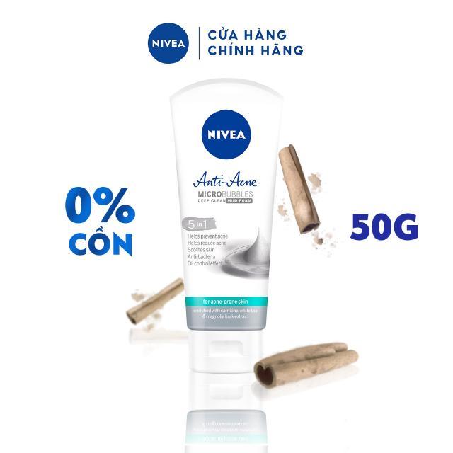 Sữa rửa mặt NIVEA Anti-Acne khoáng chất giúp ngừa mụn (50g) – 87212