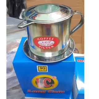 [Sỉ[ Phin pha cafe cà phê inox đẹp trung nguyên inox cỡ lớn chuẩn các cỡ số 9-10-Đại đẹp cao cấp sáng bóng