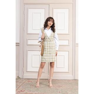 Yếm váy đính hai hàng cúc YVW0405 - 92WEAR thumbnail