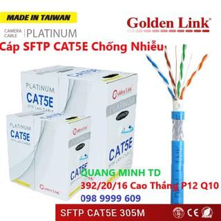 CÁP MẠNG GOLDEN LINK SFTP XANH DƯƠNG CAT 5E BẤM 2 ĐẦU SẴN 10M,15M,25M 30M 50M thumbnail