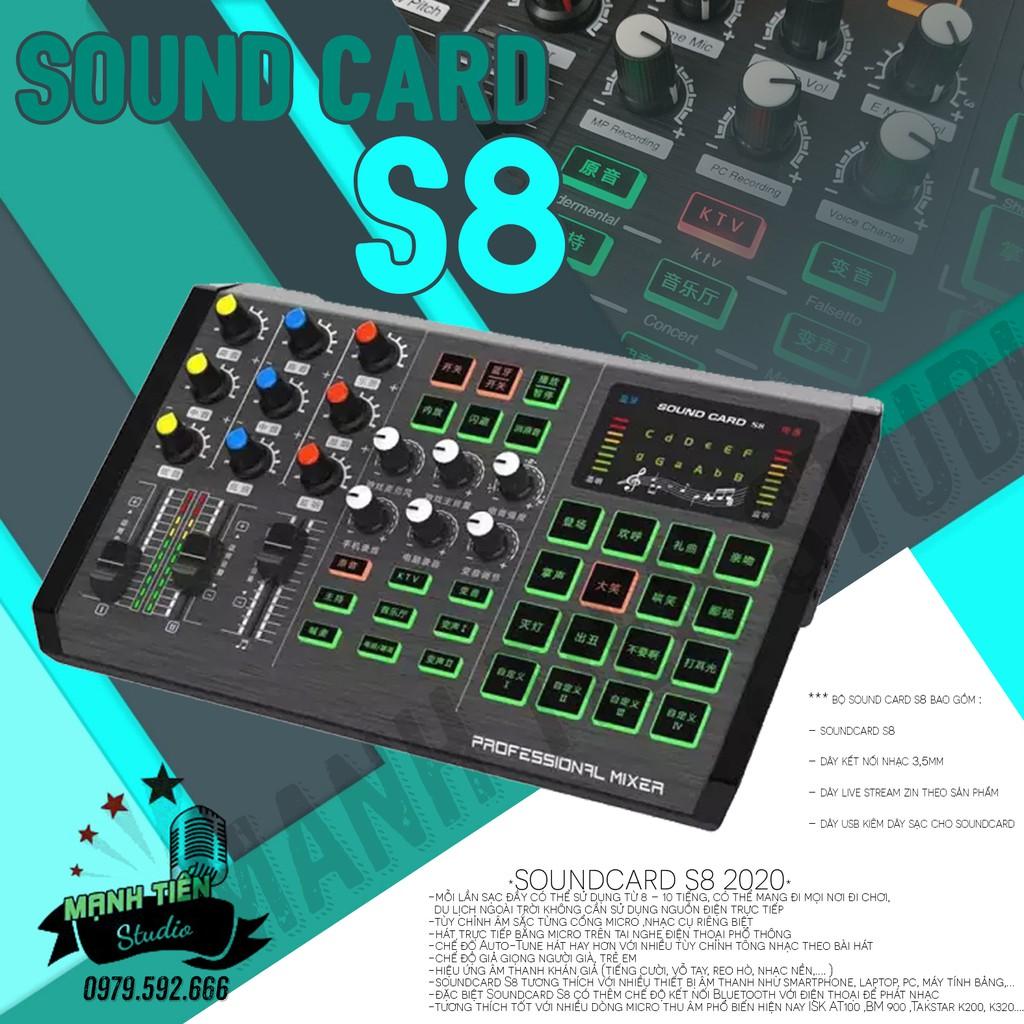 [giá buôn] soundcard livestream s8 siêu phẩm đỉnh cao thu âm chuyên nghiệp idol cc talk bigo livestream bán hàng online