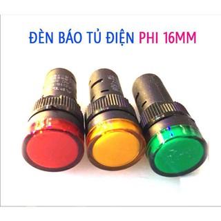 Đèn Báo Pha Tủ Điện 16mm 220VAC
