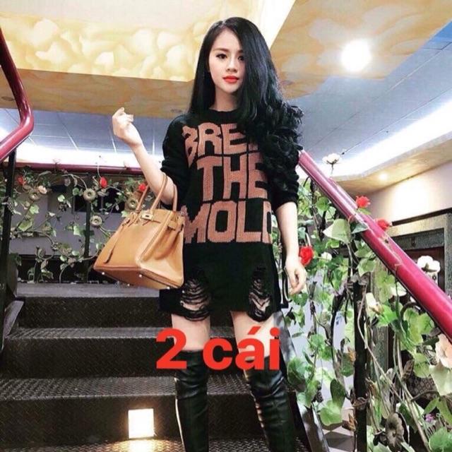 Áo len váy Quảng Châu rách L1 siêu chuẩn