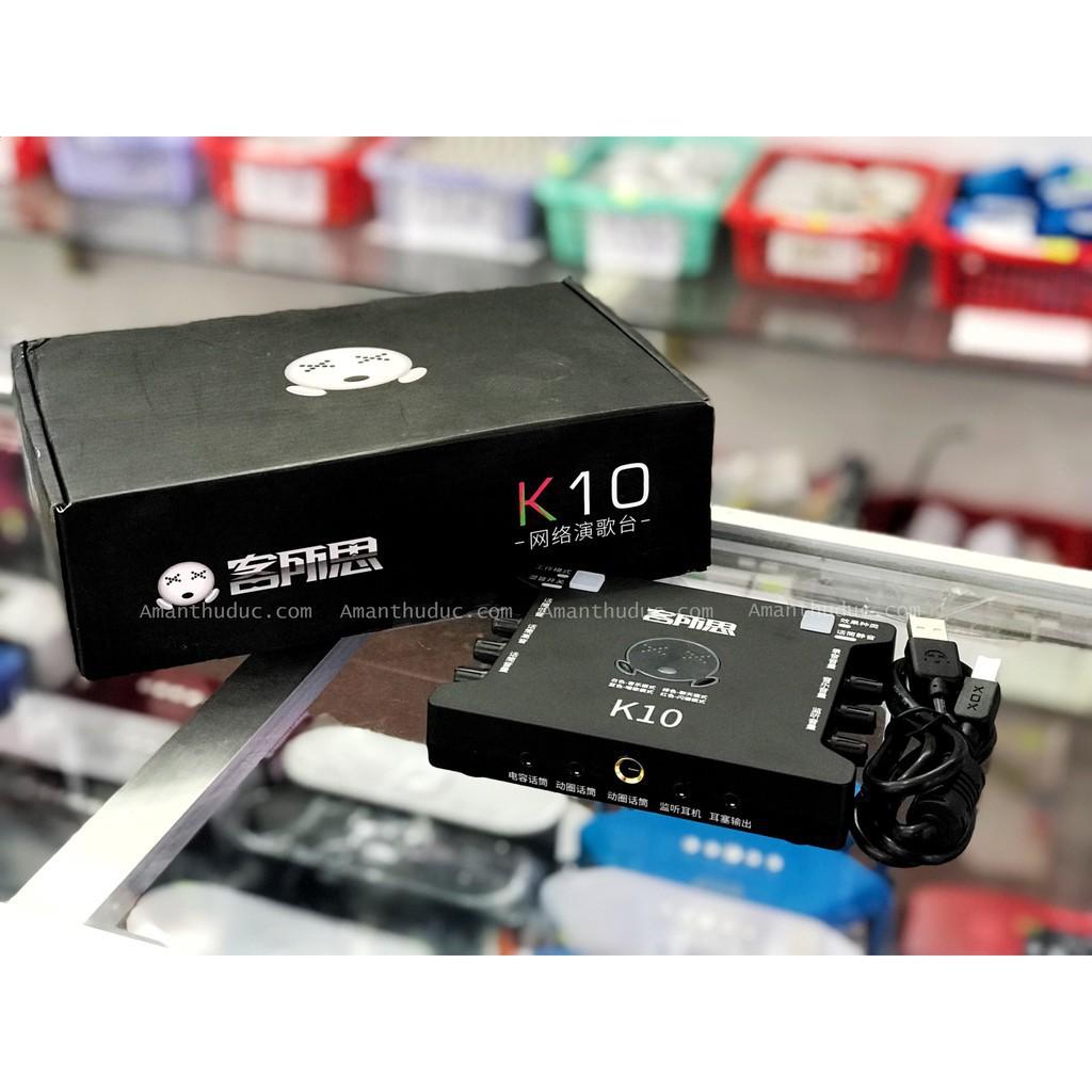 [Rẻ Vô Địch] Sound Card K10 – Thiết Bị Hỗ Trợ Live-Stream Giá chỉ 650.000₫