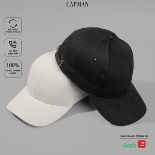 Mũ lưỡi trai trơn basic chính hãng CAPMAN, phom dáng thể thao vải kaki phong cách ulzzang CM99 thumbnail