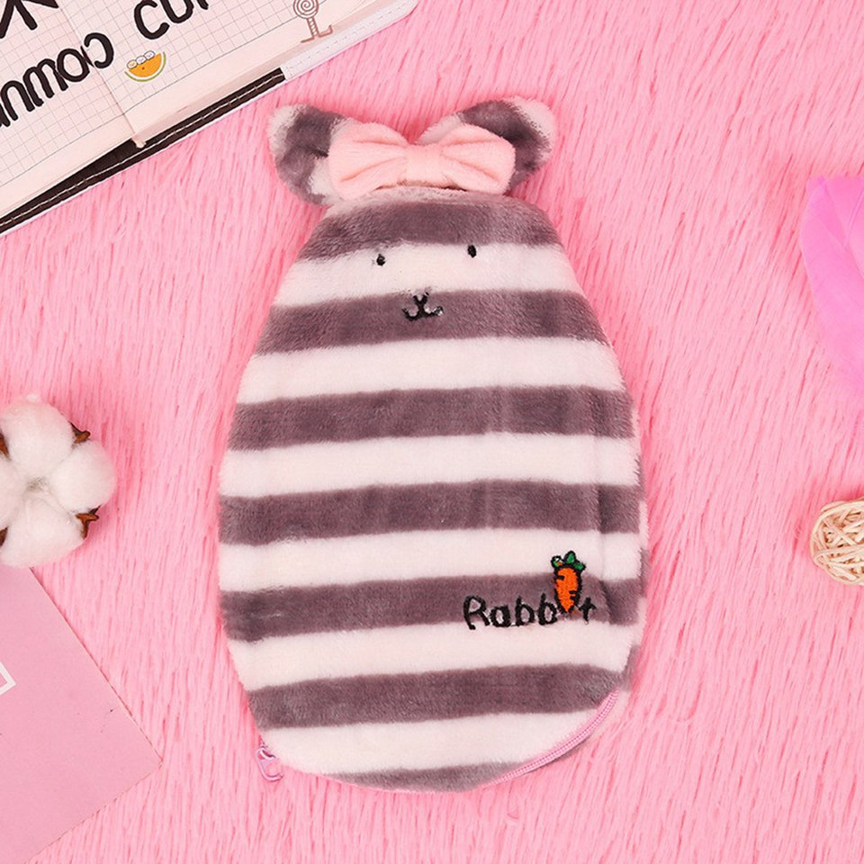 Cartoon Rabbit Hot Water Bottle Cover Explosion-proof Plush Warm Water Bag
