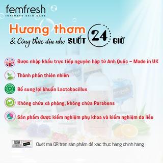 [Tặng Kèm Deal 0đ] Dung dịch vệ sinh phụ nữ cao cấp năng động Anh Quốc Femfresh Active Fresh Wash 250ml 6