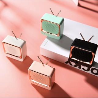 Loa Bluetooth Mini dáng Tivi cổ điển