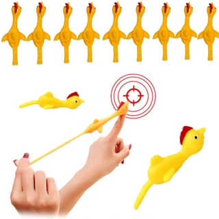 Novelty Catapulted Ejection Chicken Toy Light Rubber Finger Prank Flying Toy slingshot chicken finger toys Turkey Sticky thumbnail