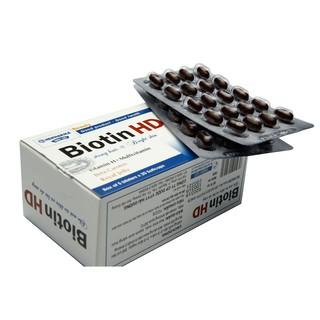 [Mã FMCGSALE giảm 5% đơn 250K] Biotin HD viên uống giúp mọc tóc, giảm rụng tóc, làm sáng da