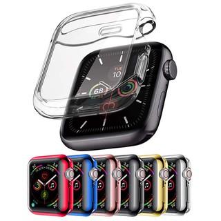 Ốp Đồng Hồ Apple Watch Bảo Vệ Màn Hình Bằng Silicon Trong Suốt 38/40/42/44mm Dành Cho iWatch Series SE 6/5/4/3/2/1