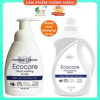 Nước rửa tay ECOCARE quế hữu cơ, nước rửa tay diệt khuẩn siêu nhanh dạng bọt thumbnail